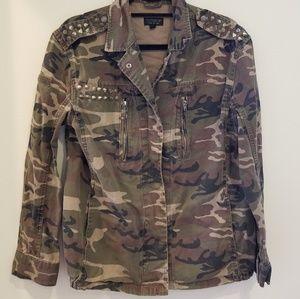 Topshop Studded Camo Jacket Size 6